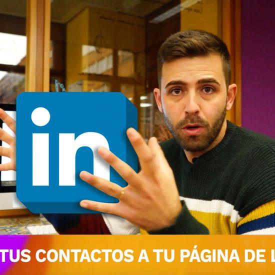 Invitar contactos a página de linkedin