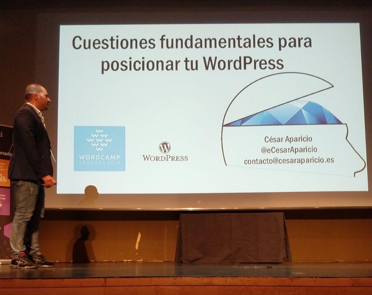 César Aparicio en WordCamp Granada 2019