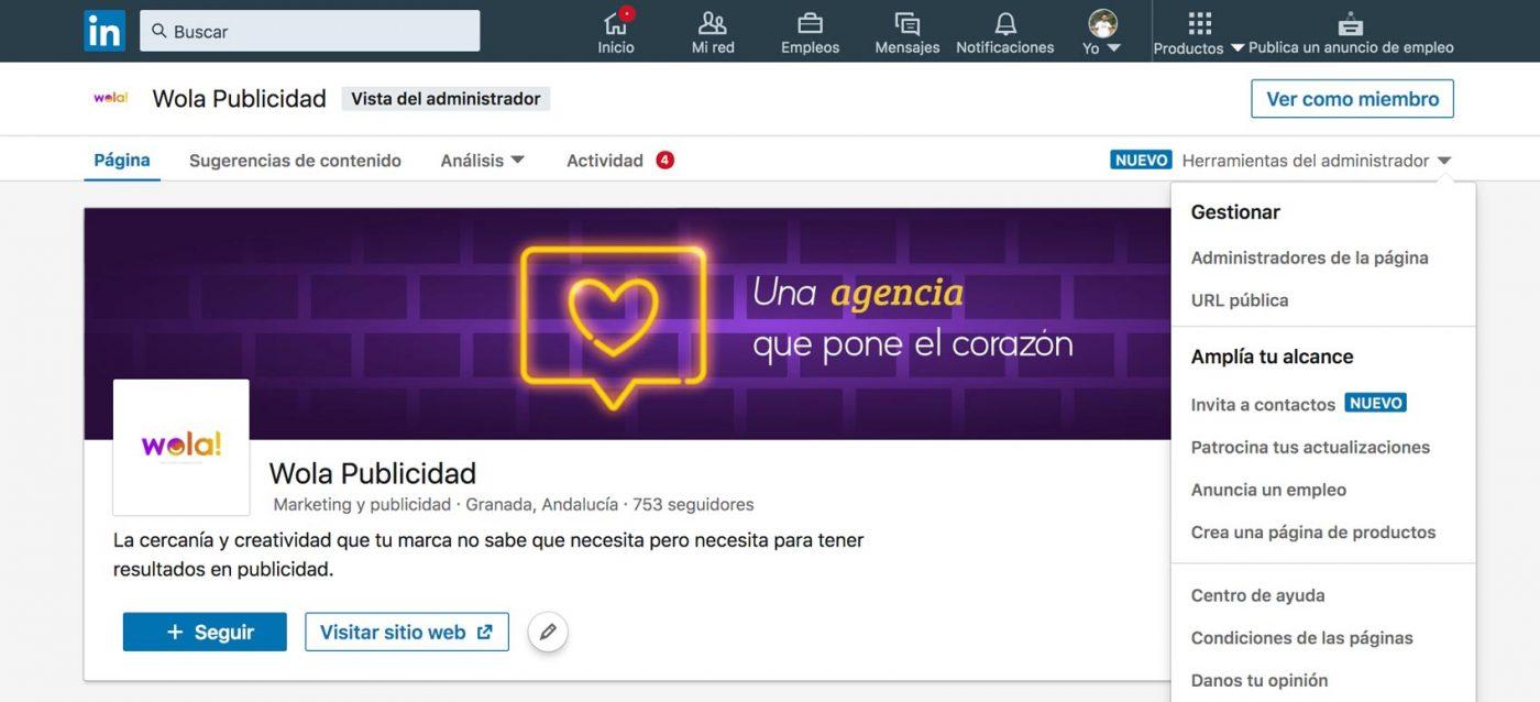Cómo invitar contactos a tu página de linkedin - tutorial