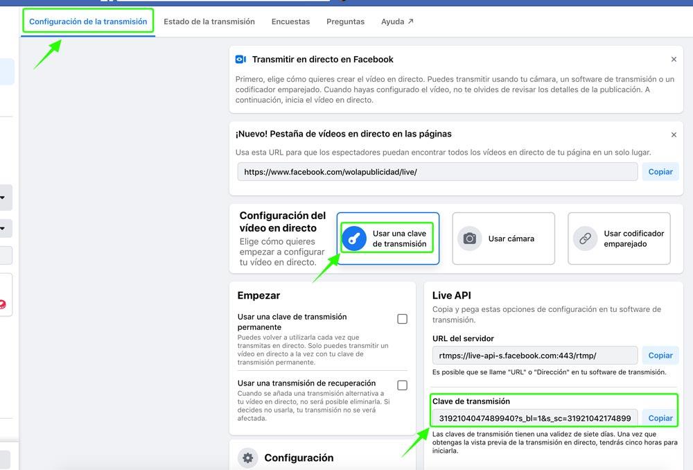 Paso 2 - Nueva versión de Facebook Live