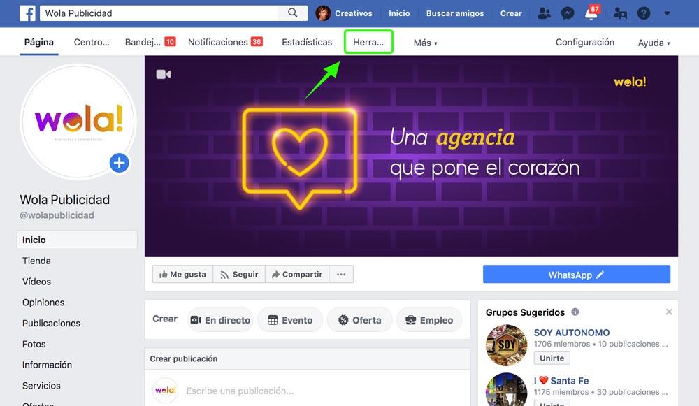 paso 1 - como hacer un directo en facebook