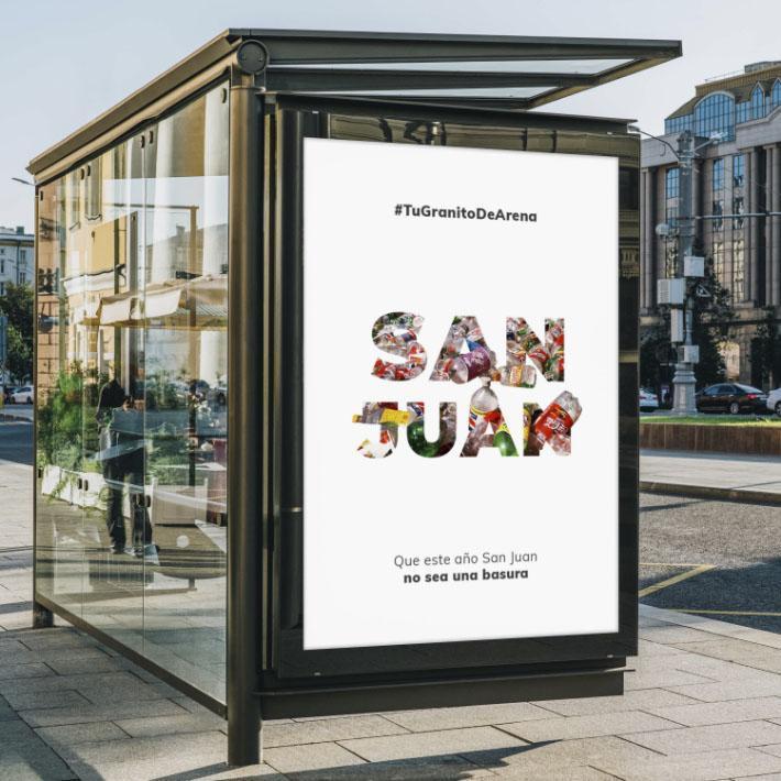 Publicidad Ambiental en marquesinas