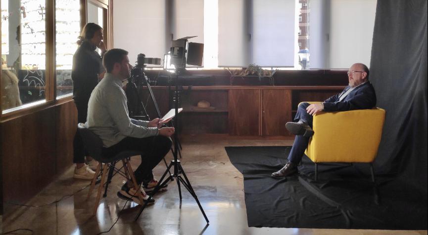Entrevistas para el spot publicitario de BNI