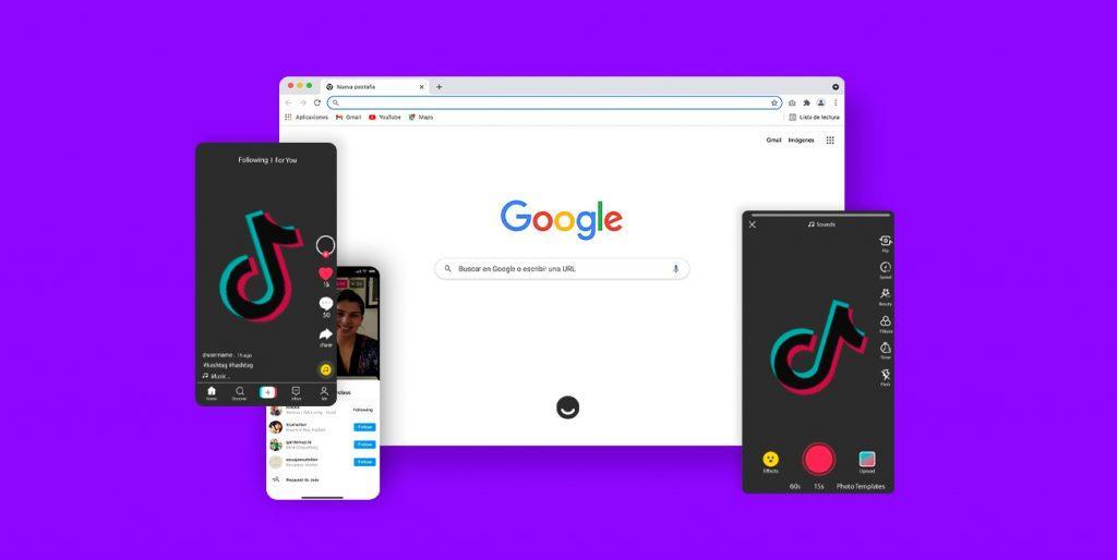 Videos cortos de TikTok en Google